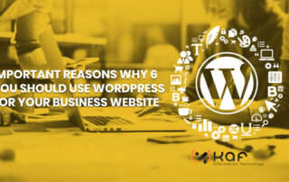 6 Important Reasons Why You Should Use WordPress for Your Business Website